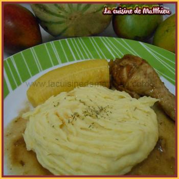 photo 0 : Pur�e de banane jaune et poulet