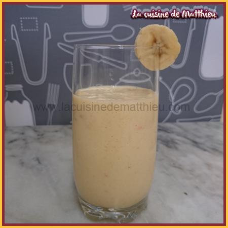 photo 0 : Smoothie � la banane rose mangue et goyave