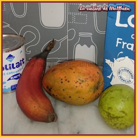 photo 1 : Smoothie � la banane rose mangue et goyave