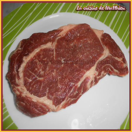 photo 1 : Entrec�te de boeuf � la po�le