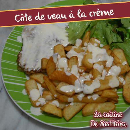 photo 0 : C�te de veau � la cr�me